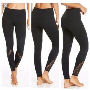 Fabletics lace bottom clover leggings